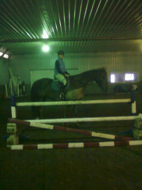"Poe next to his first 3'3"" jump"
